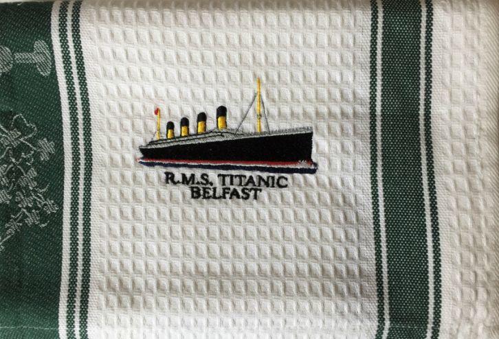 RMS-Titanic-Belfast-Cotton-Waffle-Tea-Towel