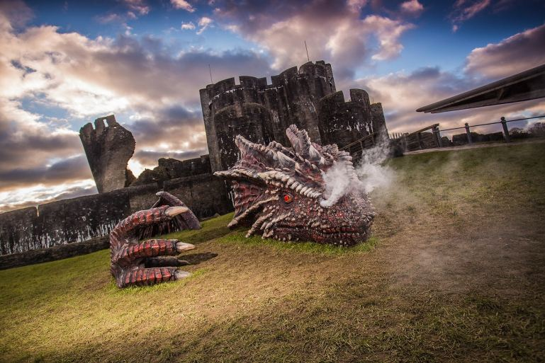 Caerphilly Castle, Visit Wales copyright