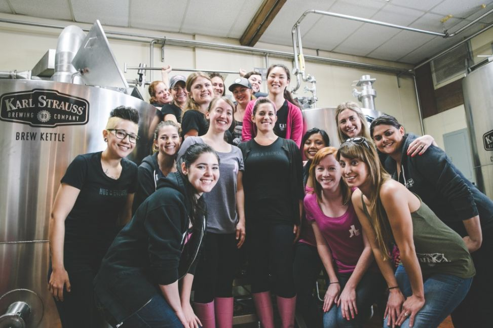 International Women's Collaboration Brew Day at Karl Strauss