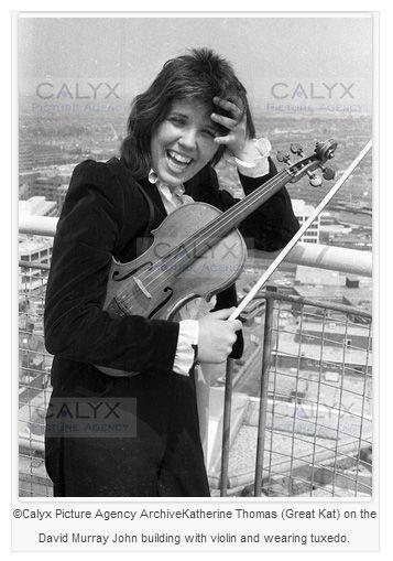 Early Juilliard Era photos of The Great Kat, Katherine Thomas, Violinist