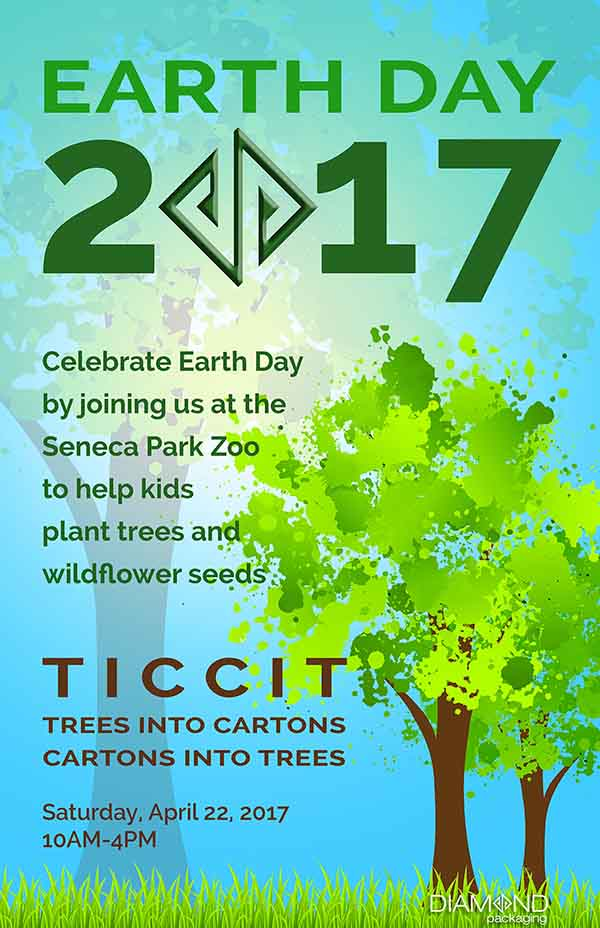 Diamond Packaging to celebrate Earth Day 2017 at the Seneca Park Zoo