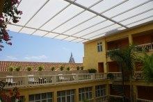 TENARA® Fabric Retractable Roof at Hotel Charleston