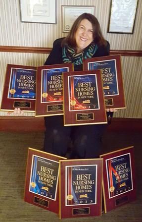 Paula Ress with Nursing Homes Awards 2017