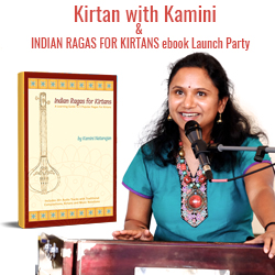 Indian Ragas for Kirtans ebook launch with Kamini