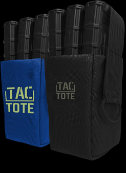The flag ship product Tac-Tote is a magnetic ammunition carrier.