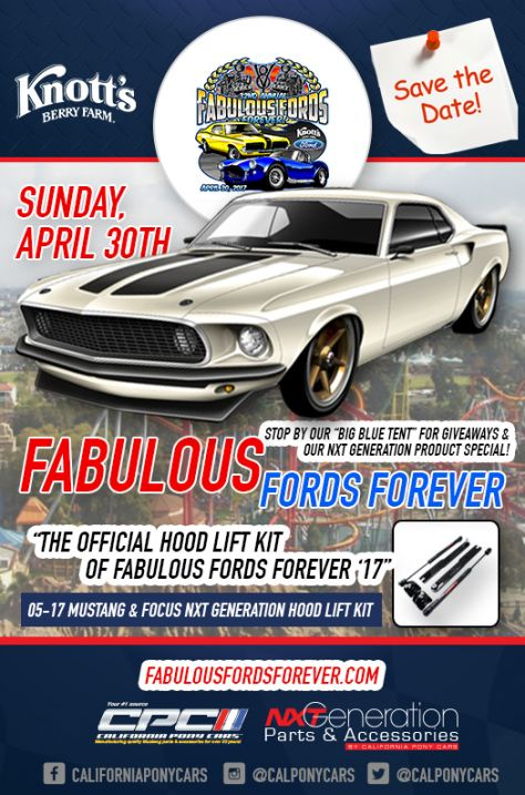 """Fabulous Forever Blog: California Pony Cars Offering Our """"Official Hood Lift Kit"""