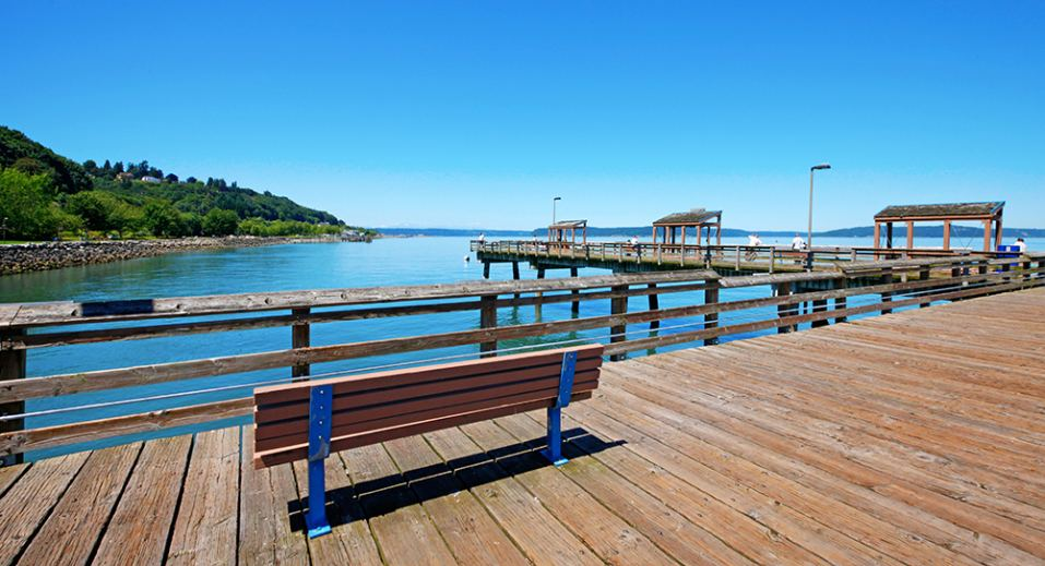 Tacoma Park Pier is a great spot to take a stroll or enjoy a cup of coffee.