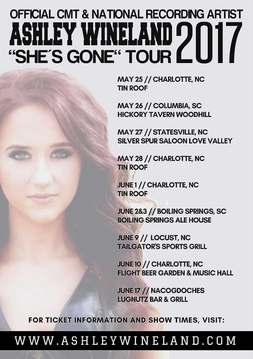 Ashley Wineland 'She's Gone' Tour
