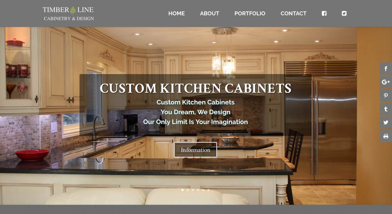 Timberline Cabinetry & Design Website