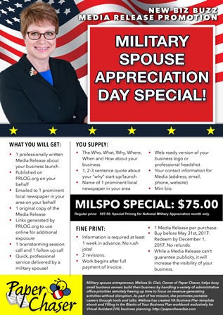 Military Spouse Appreciation Day special promotion
