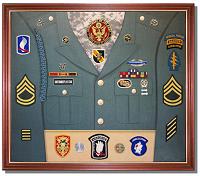 Sample U.S. Army Uniform Display Case