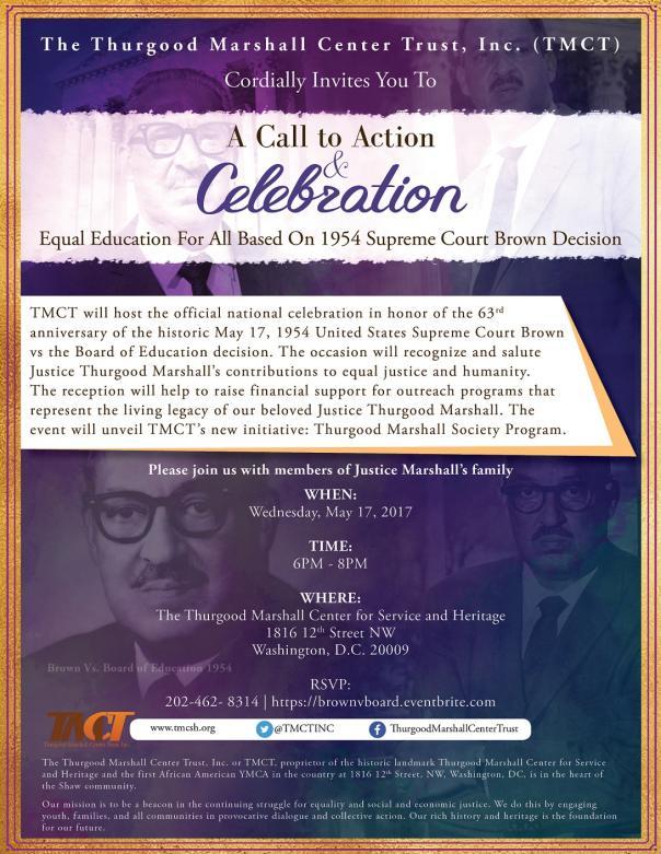Brown v Board-TMCT 63rd Anniversary Invite