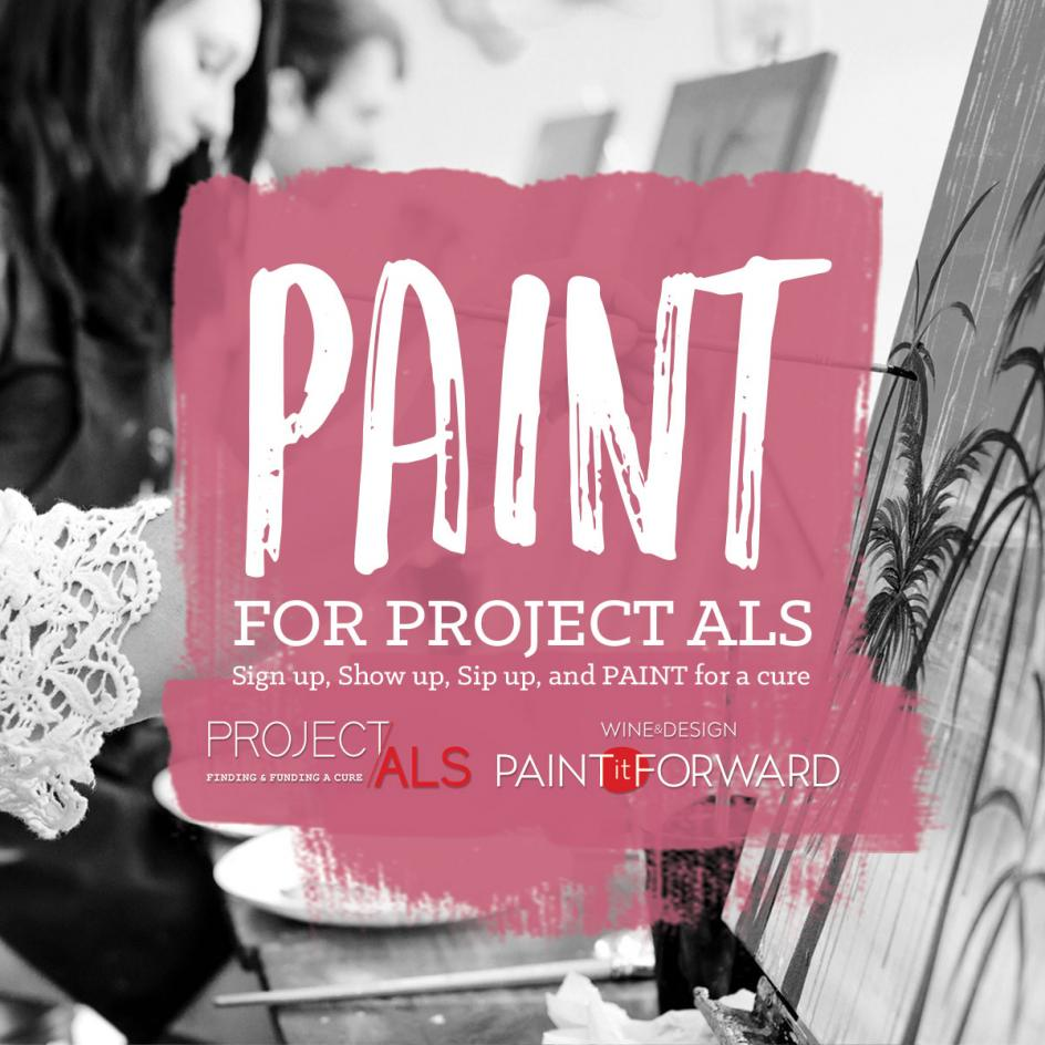 Wine design paints it forward for team chris combs and for Paint and wine raleigh