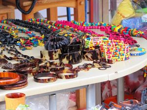 Illegal Hawksbill items on display