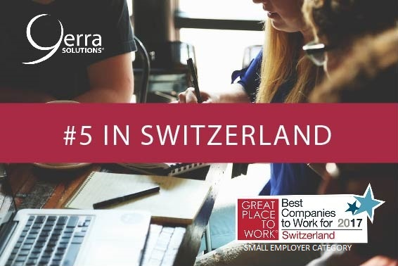 Yerra is the #5 best company to work for in Switzerland in its size category.