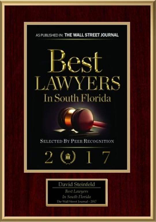 business lawyer david steinfeld named one of the best lawyers in south florida the law office. Black Bedroom Furniture Sets. Home Design Ideas