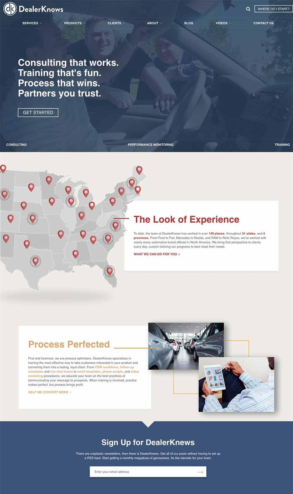 DealerKnows New Homepage