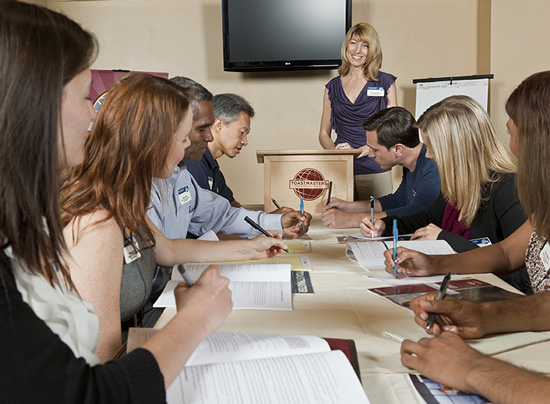 Toastmasters clubs provide a supportive and positive learning experience