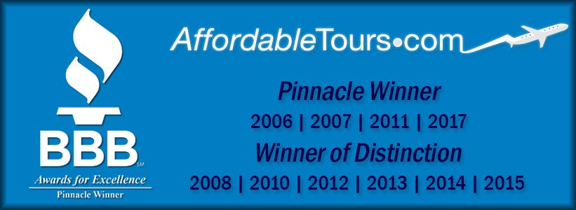 Affordable Tours has an A+ BBB rating and BBB accredited since 2001