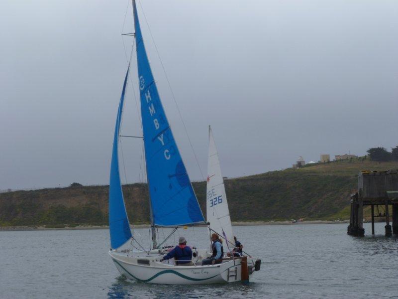 Women Sailing in Pillar Point Harbor