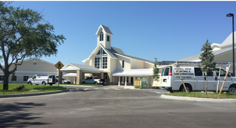 Construction is nearly complete for the Christ Church Vero Beach complex.