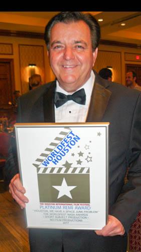 Documentary Filmmaker Kevin Stirling Wins 2017 Platinum NASA Remi Award