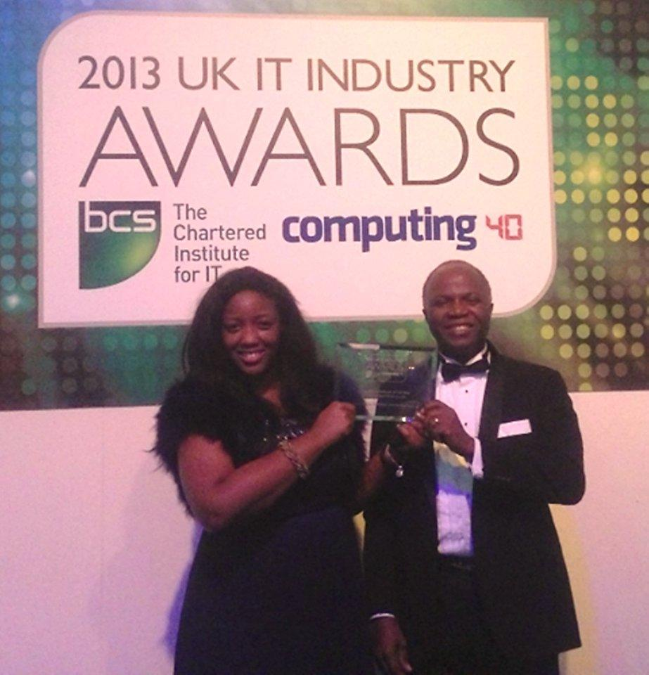 Prof Chris Imafidon with Dr Anne-Marie Imafidon