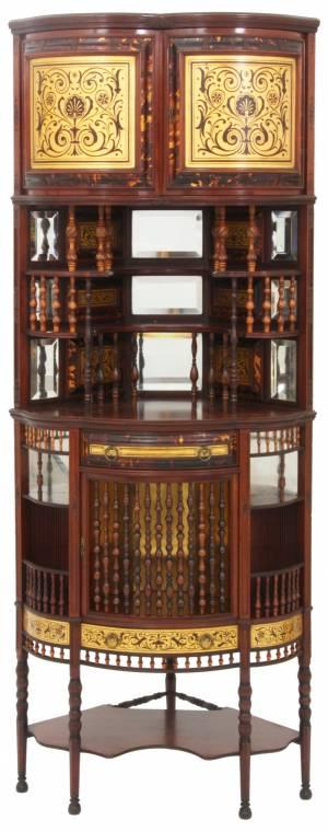 American Moorish mahogany etagere attributed to Tiffany (est. $5,000-$7,500).