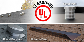 Active Ventilation Products - UL Certification:Keepa, Round Back, Universal Vent