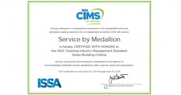 Service by Medallion - ISSA CIMS-GB Certified with Honors