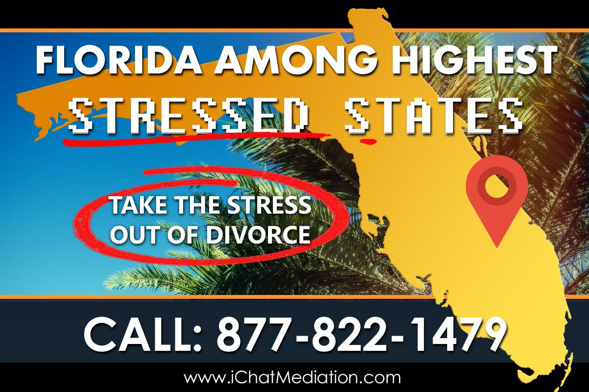 Florida Among Most Stressed States with 3rd Highest Divorce Rate