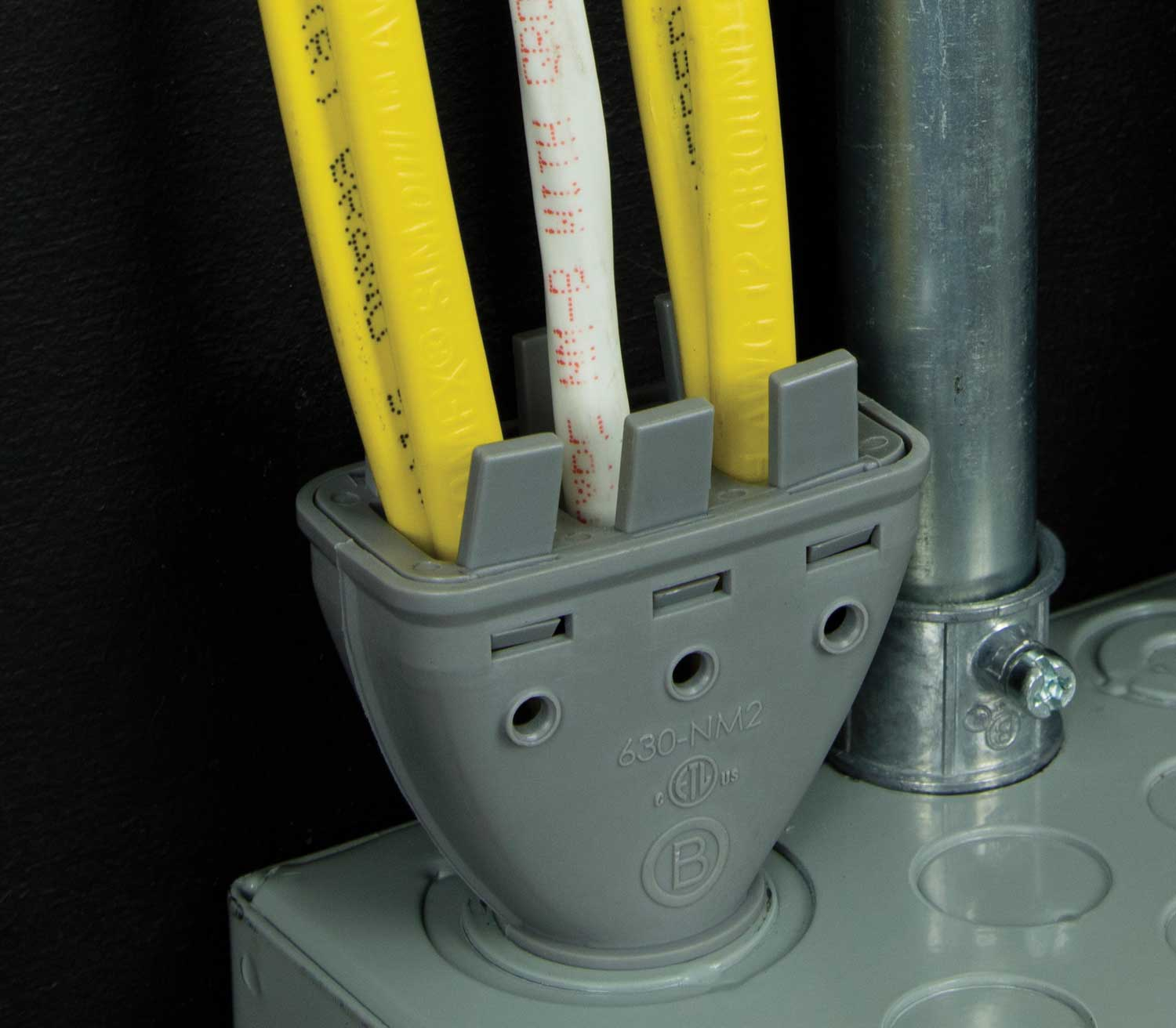 Bridgeport's new Mighty-Merge 630-NM2 Fittings make cable installation easier