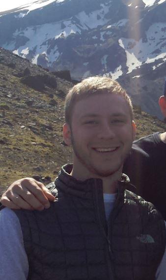 Tyler Loehrl trekking in Iceland - 2016