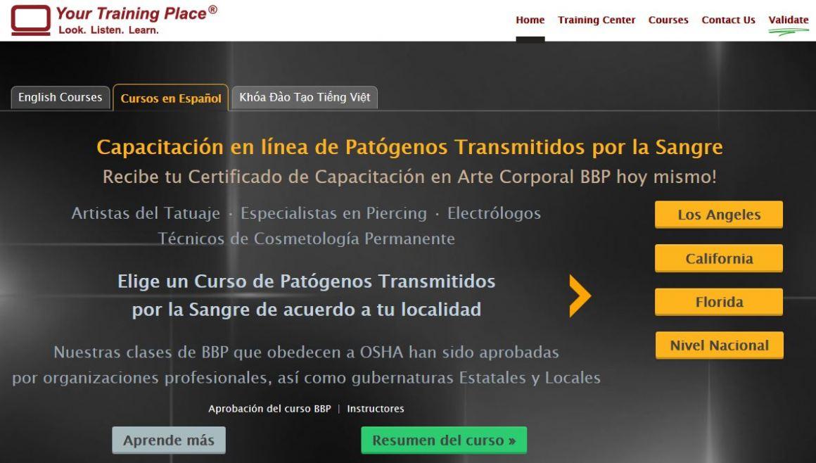Online bloodborne pathogens classes now offered in spanish for Bloodborne pathogens for tattoo artists