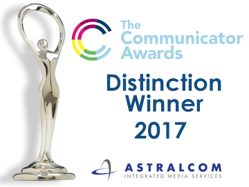ASTRALCOM wins Communicator Award 2017
