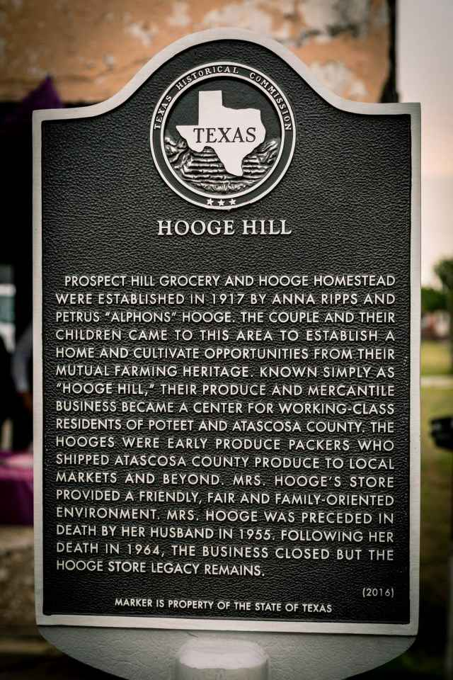 Hooge Hill Historical Marker, Photo courtesy of Bruce Eichman Photography