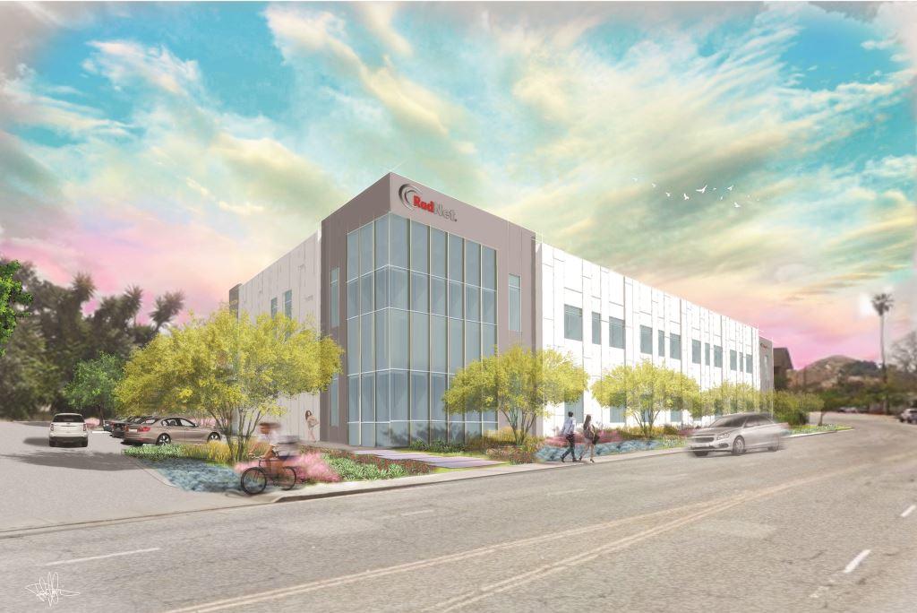 Rendering of new RadNet medical office building in Riverside