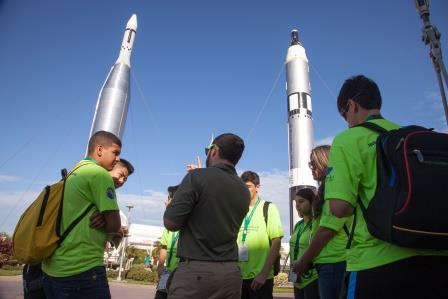 Students at NASA/Kennedy Space Center