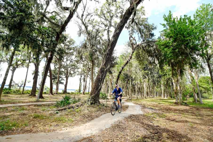 Miles of bicycling trails are among amenities at Mattamy Homes RiverTown