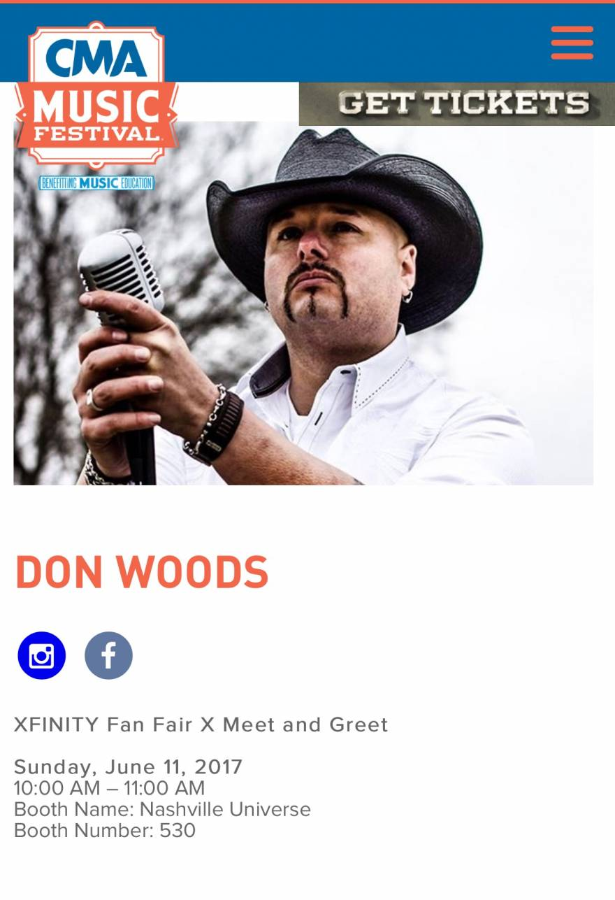 Don Woods Jr At Cma Fan Fest X Supporting Cma Edu Dw Country