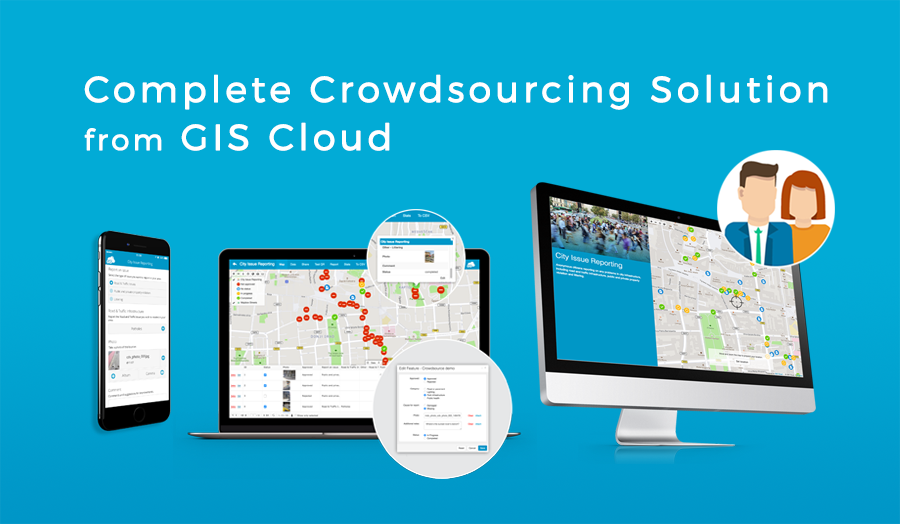 GIS Cloud Crowdsourcing Complete Branded Solution for Local Governments