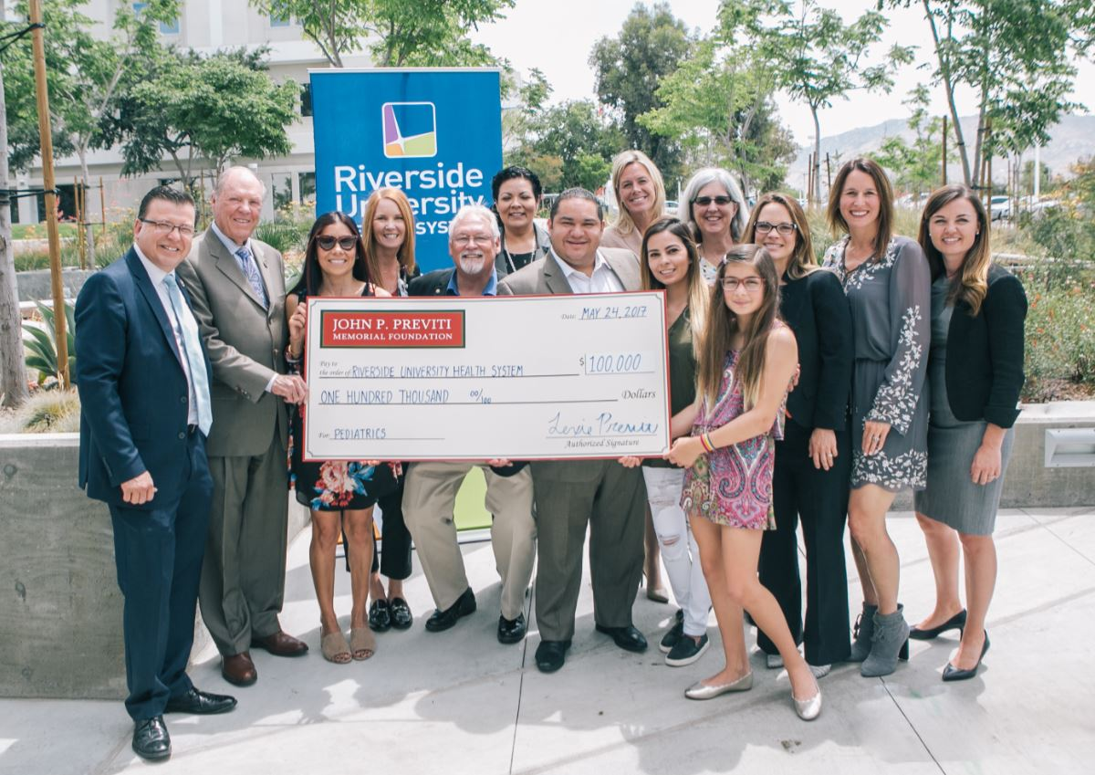 John P. Previti Memorial Foundation Supports Pediatrics Programs at RUHS.