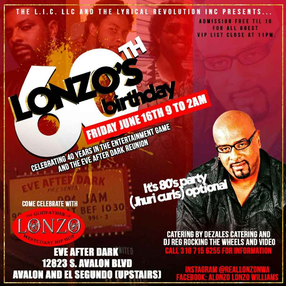 Official Flyer Invite www.lonzowilliams.com