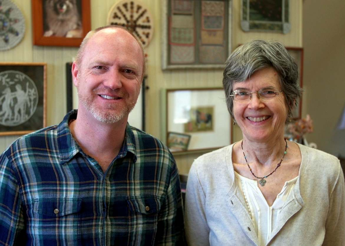Film producer Rusty Dyer with nationally acclaimed fiber artist Missy Stevens