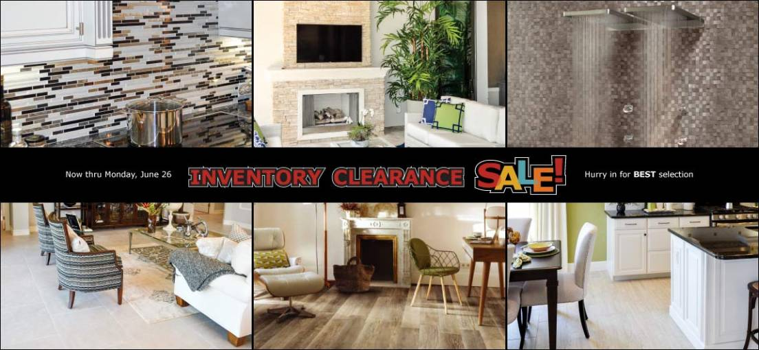 Shop Tile Outlets of America June 16-26, 2017 During Inventory Clearance Sale
