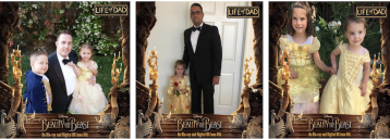 Dads Capture Priceless Moments at Beauty & The Beast Event