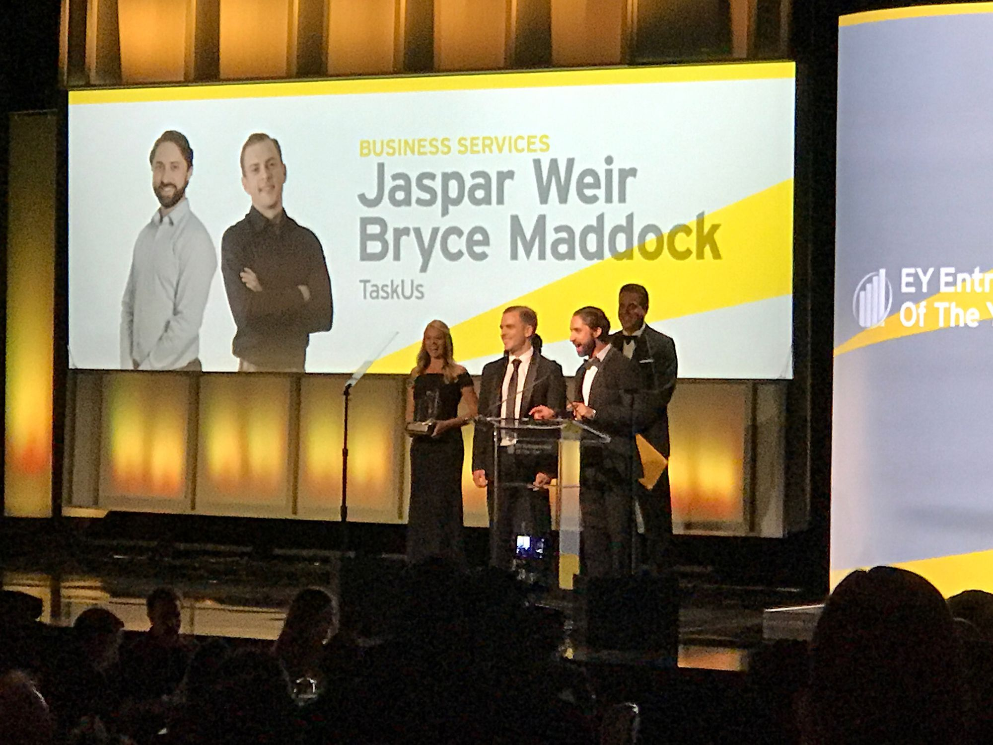 TaskUs Wins EY Entrepreneur of the Year
