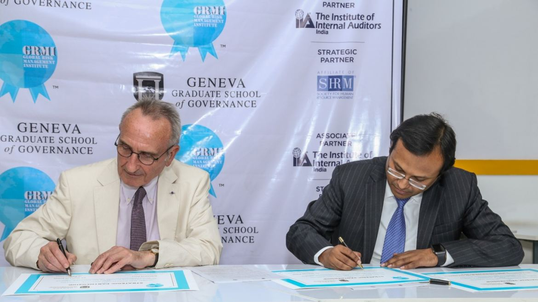 Dr. Bernard Boene, Chancellor, GGSG and Mr. Subhas