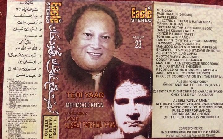Nusrat Fateh Ali Khan with Mahmood Khan in 1996