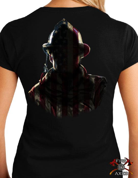 American Hero Womens Firefighter Shirt